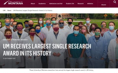 UM Receives Largest Single Research Award in its History